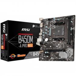 MSI-Main-Board-Desktop-B450-SAM4-2xDDR4-1xPCI-Ex16-1xPCI-Ex1-mATX-Retail