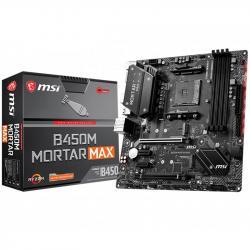 MSI-Main-Board-Desktop-B450-SAM4-4xDDR4-2xPCI-Ex16-2xPCI-Ex1-mATX-Retail