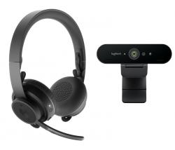 Logitech-Zone-Wireless-Bluetooth-Headset-Graphite-and-Brio-4K-Webcam