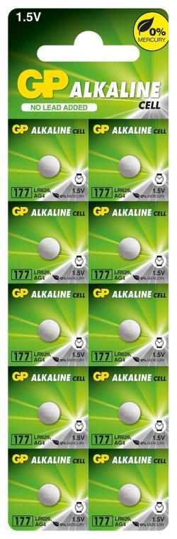 Butonna-alkalna-bateriq-GP177-LR-626-10-br.-pack-cena-za-1-br.-AG4-1.55V-GP