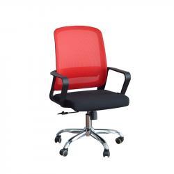 RFG-Raboten-stol-Parma-Black-W-damaska-i-mesh-cherna-sedalka-chervena-oblegalka