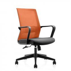 RFG-Raboten-stol-Smart-W-damaska-i-mesh-cherna-sedalka-oranzheva-oblegalka