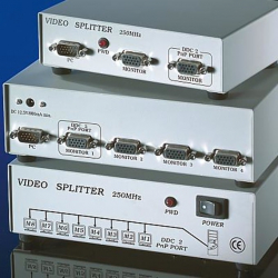 VALUE-14.99.3530-Video-spliter-4-way-250Mhz-1x-IN-4x-OUT