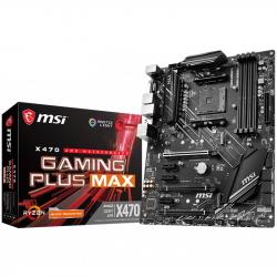 MSI-X470-GAMING-PLUS-MAX-ATX-AMD-AM4-socket-2x-PCI-E-3.0-x16-1x-PCI-E-2.0-x16-HDMI-DVI-D-4-DIMMs-DualChannel-DDR4-3866+-OC-3x-PCI-E-x1-2x-M.2-6x-SATA-6Gb-s-2x-USB-3.2-Gen2-8x-USB-3.2-Gen1-6x-USB-2.0-8111H-LAN-7.1-HD-Audio