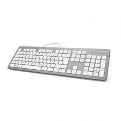 Klaviatura-bezshumna-HAMA-KC-700-s-kabel-USB-kirilizirana-Srebrist-Bql
