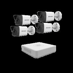Комплект 4 бр. 4Mpx IP камери с NVR с вградено POE  захранване