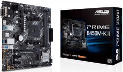 ASUS-PRIME-B450M-K-II-AM4-mATX-1xPCIe-3.0-2.0-x16-4xSATA-6Gb-s-ports-2xM.2