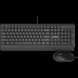 CANYON-CNE-CSET4-BG-USB-wired-combo-set-Wired-Chocolate-Standard-Keyboard
