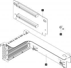 LENOVO-ThinkSystem-SR550-SR590-SR650-x16-x8-PCIe-FH-Riser-1-Kit