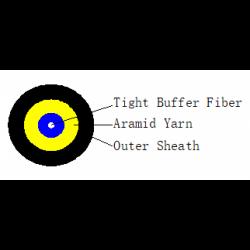 FTTH-TPU-1F-G657A2-O.D.-3.0mm-micro-ADSS-cheren