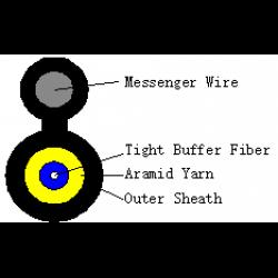 FTTH-TPU-1F+M-G657A2-solid-messenger-1-2mm