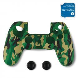 Protektor-Spartan-Gear-Silicon-Skin-Cover-Thumb-Grips-za-Dualshock-4-Green-Camo