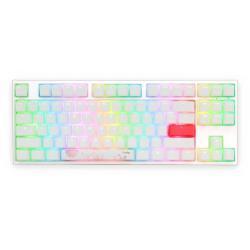 Gejmyrska-mehanichna-klaviatura-Ducky-One-2-TKL-White-RGB-KailhBOXSilent-Pink