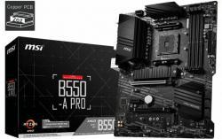 MSI-B550-A-PRO-AM4-DDR4-2xM.2-6xSATA-HDMI-DP-ATX