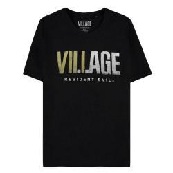 Teniska-Bioworld-Difuzed-Resident-Evil-Village-Logo-Black-T-Shirt-Size-L