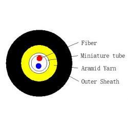 FTTH-2F-TPU-round-edna-tuba-kevlar-G657A2-LSZH-1km