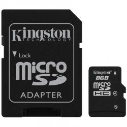 Kingston-8GB-microSDHC-Class-4-Flash-Card-SD-Adapter-EAN-740617128147