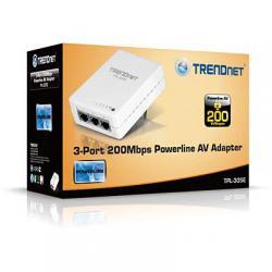TRENDnet-TPL-305E-3-Port-200-Mbps-Powerline-AV-adapter